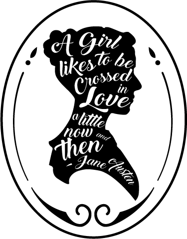"TenStickers. Jane Austen quote wall decal. The famous Jane Austen quote sticker is from her book ""Pride and Prejudice,"" one of the most loved books of our time. Extremely long-lasting material."