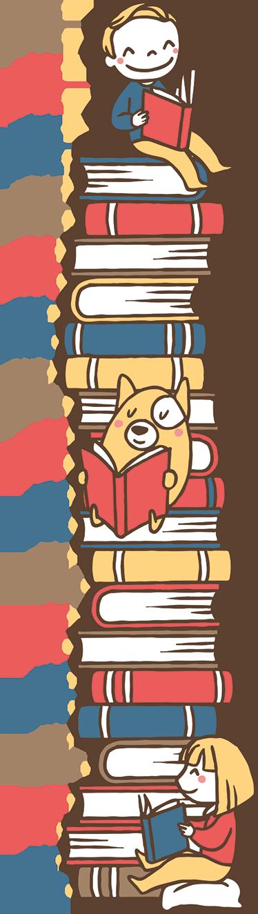 TenStickers. Vinil para medição de crescimento livros. Vinil para medição de crescimento livros. Renove a decoração do quarto dos seus filhos com este vinil de fácil colocação e resistente!