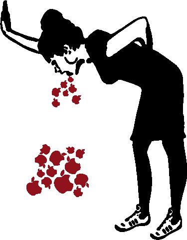 TenStickers. Laptop sticker Lovesick. Een sticker voor de laptop voor al uw Apple apparaten gebaseerd op een kunstwerk  van de Britse graffitikunstenaar Banksy