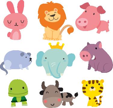 TENSTICKERS. さまざまな動物の子供漫画壁ステッカー. 保育園の動物園?考えられない!あなたの家に小さな動物の王国を作りたいなら、このかわいい野生動物のステッカーを使うだけです!