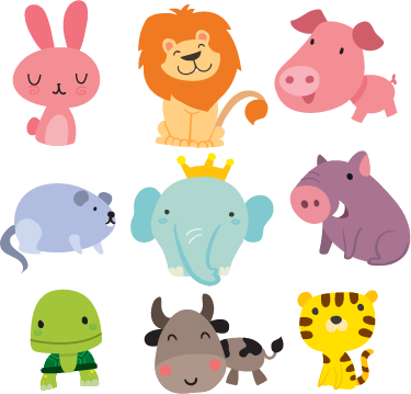 Stickersi bambini good adesivi per bambini animali - Animali terrestri per bambini ...