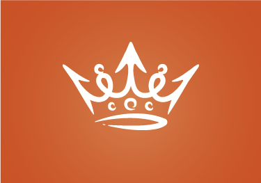 TENSTICKERS. 白い王冠のラップトップの皮. 鮮やかなオレンジ色の背景に白い王冠を表すこのオリジナルのラップトップステッカーを使用して、コンピューターを王室の方法で飾ります。