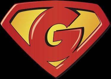 TenStickers. T-shirt super g. Personaliseer de kinderslaapkamer met deze superhelden superman logo sticker met een G in plaats van een S!