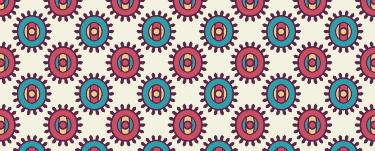 TenVinilo. Vinilo patrón sol indio. Adhesivo para decorar las paredes de cualquier estancia de tu casa, con un motivo étnico colorido.