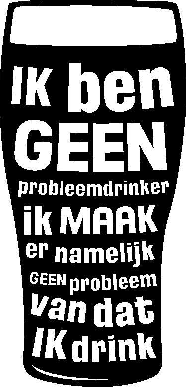 TenStickers. Muursticker probleemdrinker. Een leuk en creatief ontwerp met de tekst ´Ik ben geen probleemdrinker ik maak er namelijk geen probleem van dat ik drink´ met hierbij een glas bier!