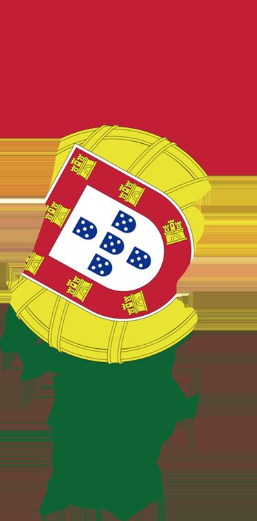 TenStickers. Sticker bandeira e mapa Portugal. Autocolante da bandeira de Portugal. Decora o teu carro ou mota com este vinil autocolante de Portugal, por um preço económico.