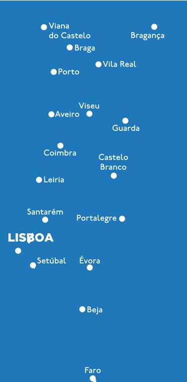 TenStickers. Vini Decorativo Continente Distritos. Vinil decorativo com a silhueta de Portugal continental e o nome de todos os distritos, um vinil perfeito para coloção em sua casa.
