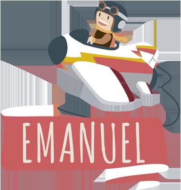 TENSTICKERS. 名前の漫画の壁のステッカーと小さな飛行機. カスタマイズ可能な名前のバナーを運ぶ飛行機パイロットの男の子のイラストが付いた、素敵な子供用のパーソナライズ可能なステッカー。
