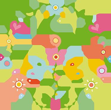 TenVinilo. Vinilo de flores Paz. Vinilos para el hogar con un símbolo reconocido universlamente compuesto por distintos elementos vegetales.