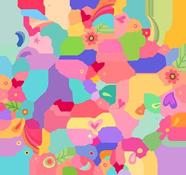 Muursticker peace logo