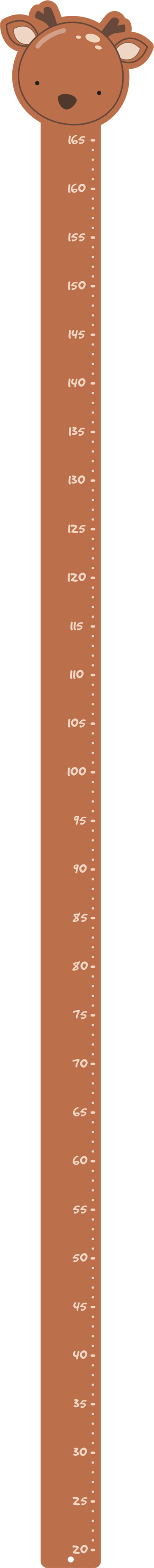 TenStickers. Klistermærke med rådyrhøjde. Måle dine børn på en original måde med dette seje et vægklistermærke til et hjort med et køligt højdekort. Du kan følge dit barns højde centimeter for centimeter!