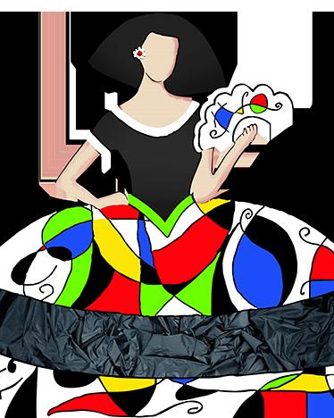 TenVinilo. Vinilo decorativo figura Miró. Representación en vinilo mural de un colorido dibujo del célebre pintor Joan Miró, ideal para recrear un museo en tu propio hogar.