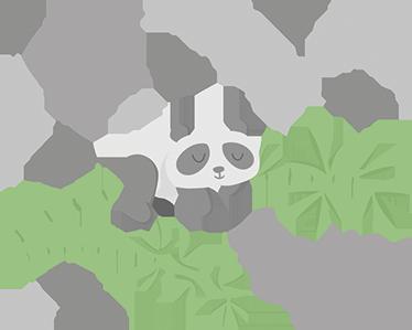 TENSTICKERS. カスタムパンダイラスト壁デカール. パーソナライズされたパンダの赤ちゃんステッカー。お子様の寝室を明るく楽しい方法で飾るのに最適です。パンダを描いたアニマルステッカー!
