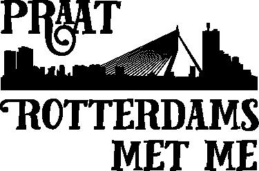 "TenStickers. 跟我说鹿特丹汽车贴花. 带有设计文字""跟我说话的鹿特丹""的汽车乙烯基贴花,具有鹿特丹城市轮廓,颜色可定制。"