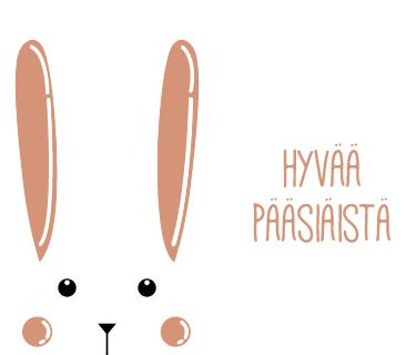 Tenstickers. Pääsiäinen Seinätarra. Haluatko toivottaa asiakkaillesi hyvää pääsiäistä? Tämä tarra on oiva siihen. Tarrassa lukee hyvää pääsiäistä söpön pupun vieressä.