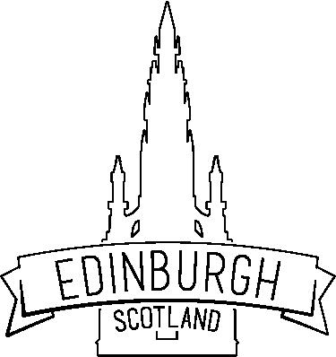 TenStickers. Vinilo decorativo catedral Edimburgo. Autocolante decorativo com as formas da catedral de Edimburgo. Faça uma fazer coleção de stickers decorativos dos destinos que já visitou.