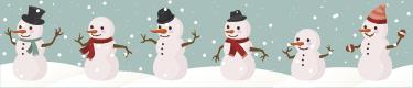 TenStickers. Adesivo decorativo orlatura pupazzi di neve. Adesivo decorativo orlatura pupazzi di neve, ottimo per decorare i vari ambienti in attesa delle festività natalizie. Dai un tocco invernale alla casa
