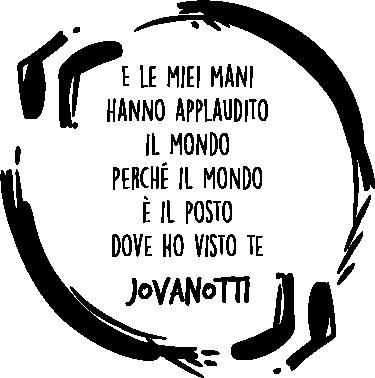 """TenStickers. Adesivo il mondo Jovanotti. Adesivo il mondo Jovanotti,  perfetto per tutti i fan di uno dei  cantanti più famosi di tutta Italia, con una frase della canzone """"Dove ho visto te""""."""