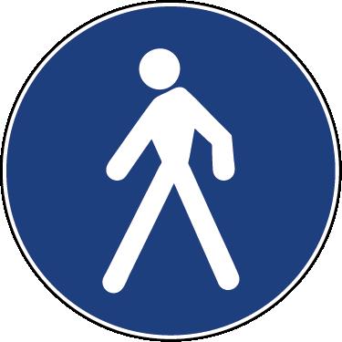 TenStickers. Fodgængerskilt wallsticker. Fodgænger sticker. Dette klistermærker afbilledet af den kendte fodgængerskilt kan bruge som dekoration eller praktisk formål.