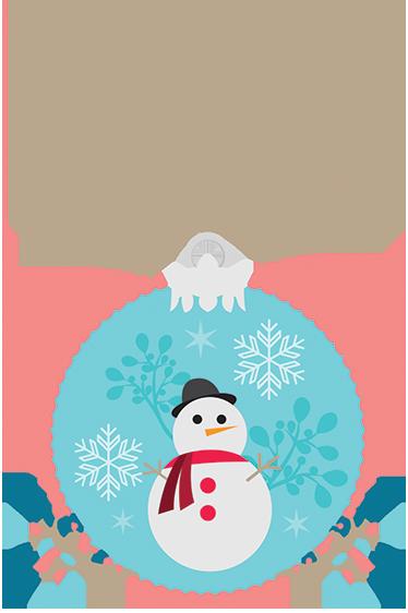 TENSTICKERS. 雪だるまボールクリスマスウォールステッカー. 印刷された雪だるまでクリスマスボールを楽しく描いたクリスマスステッカー。この冬の家やビジネスの装飾に最適です。