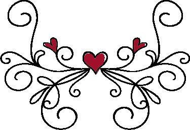TenVinilo. Vinilo cabecero ramas corazones. Bonito cabecero adhesivo de un dibujo lineal que forma unas ramas adornadas por unos corazones rojos.