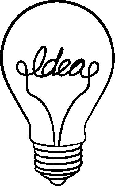 """TenStickers. Adesivo decorativo lampadina idea. Adesivo decorativo lampadina idea, Decora la tua stanza o ufficio con questo fantastico adesivo raffigurante una lampadina con dentro scritto """"idea""""."""