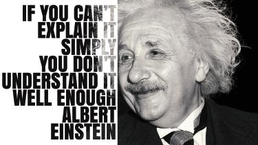 TenVinilo. Vinilo decorativo cita de Einstein. Vinilo decorativo con la imagen del entrañable físico alemán Albert Einstein junto con una de sus citas más famosas en inglés.