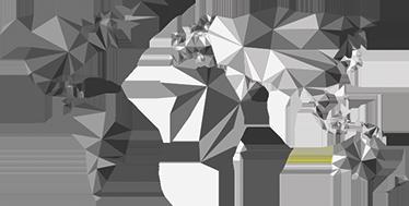 TenVinilo. Vinilo mapamundi grises. Vinilos decorativos mapa del mundo con un diseño moderno, sobrio y elegante, ideal para decorar cualquier estancia de tu casa.