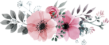 TenStickers. Beautiful Pink Floral Wall Sticker. A pink floral decal to decorate your home with. An amazing illustration from our collection of floral wall art stickers.