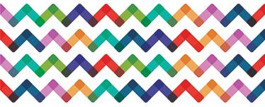 TENSTICKERS. モダンオーナメントボーダーステッカー. 三角形の波のカラフルでモダンなレクリエーションと装飾的なビニールタイプの境界線。高品質の素材!