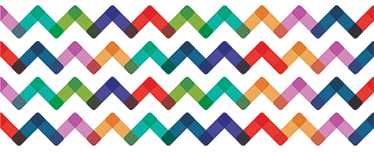 TenStickers. 现代装饰边框贴纸. 装饰乙烯基类型的边界与三角形的波浪的丰富多彩和现代的娱乐。高品质的材料!