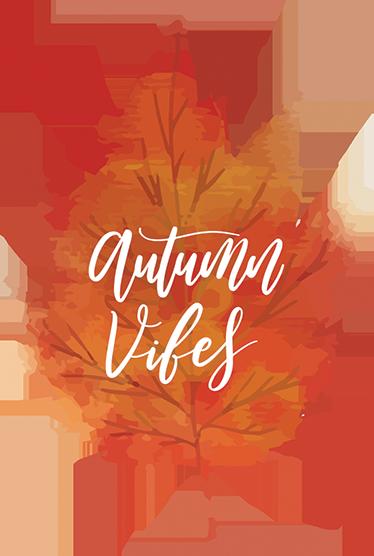 Tenstickers. Sisustustarra Autumn Vibes. Syksyinen sisustustarra Autumn Vibes. Kaunis ja tyylikäs lehtitarra tekstillä Autumn Vibes tuo kotisi sisustukseen syksyistä tunnelmaa.