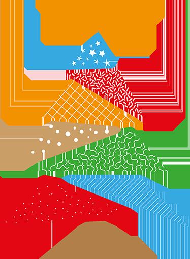 TENSTICKERS. カラフルなクリスマスツリーの壁のステッカー. このクリスマスツリーステッカーを使用して、お祝いシーズンに家に色を追加します。今年はファンキーなカラフルなツリーがあります!