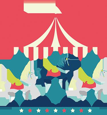 TENSTICKERS. 馬カルーセルサーカスステッカー. 子供部屋用のサーカスの壁のステッカー。彼のベッドの頭に置くのに理想的なライブフェアカルーセルの絵が描かれています。