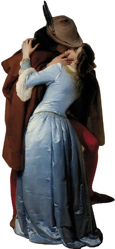 """TenVinilo. Vinilo portatil el beso hayez. Vinilo para portátil con la imagen de los dos protagonistas de la pintura de Francesco Hayez """"El beso""""."""