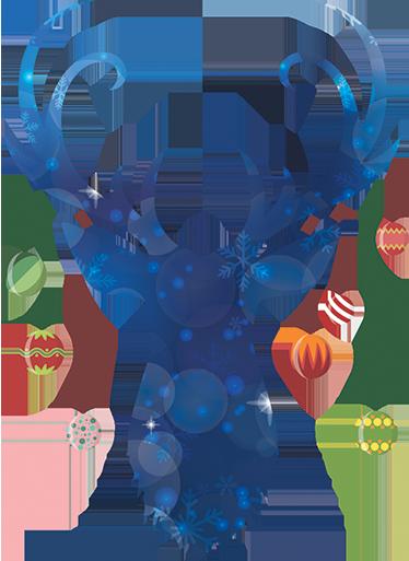 Vinilo Ciervo Navidad Para Decorar Tenvinilo - Ciervo-navidad