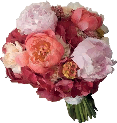 TENSTICKERS. 幾何学的な花束の花の壁の装飾. 家のどの部屋にも春のタッチと色を与えるのに理想的な花束を表現したフラワーウォールステッカー。