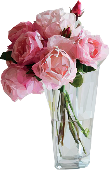 TenStickers. Dekorativ rose buket sticker. Denne dekorative rose buket er den perfekte vægdekoration til dig som elsker blomster og leder efter ny vægudsmykning flotte wallstickers.