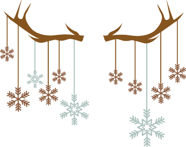 TenStickers. Christmas snowflake and antler wall sticker. Why not combine your love of snowflakes and deer with this Christmas sticker? This elegant sticker is perfect to add that festive touch to any room