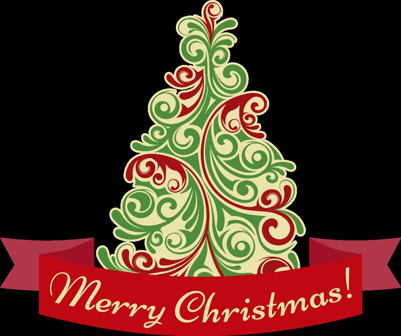 TENSTICKERS. メリークリスマスツリークリスマスステッカー. この素敵なクリスマスの壁のステッカーであなたの家を飾って、次の休日に備えましょう。