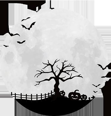 TenStickers. Sticker Halloween volle maan. Beleef een spookachtig Halloween met muurstickers en raamstickers als decoratie. Krijg de rillingen van enge designs.