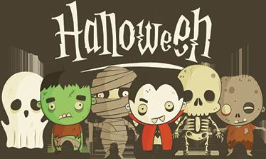 TenStickers. Halloween sticker voor kinderen. Decoreer je huis met Halloween met deze fraaie muursticker of raamsticker. Angstaanjagende Halloween decoratie voor een angstige sfeer.