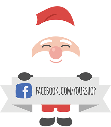 TenStickers. Christmas Facebook Sticker for Businesses. Shop Window Stickers - Facebook stickers for increasing the number of friends/followers for businesses at the busiest time of the year for sales... Christmas!