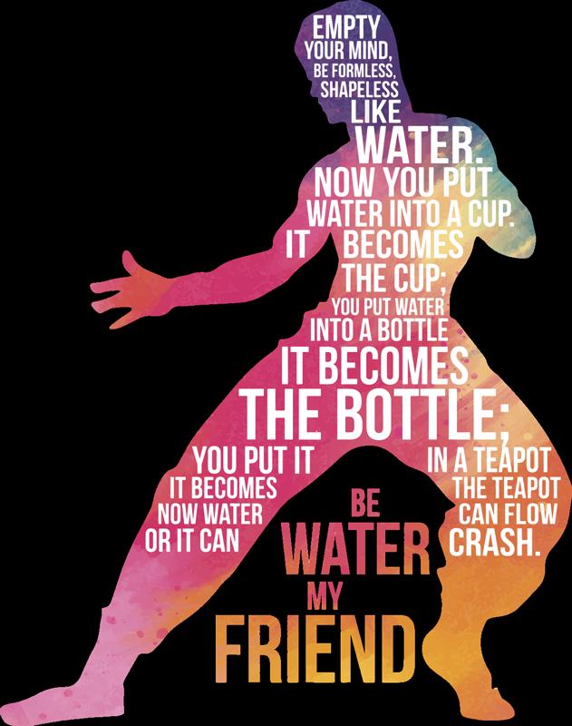 TenStickers. Sticker citation Bruce Lee. Venez découvrir notre sticker dédié au combattant et acteur Bruce Lee. Si vous voulez profiter de ses enseignements, ce sticker texte est pour vous