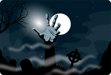 TenStickers. Undead laptop sticker. Give your computer an original and unique touch with this scary Halloween sticker. Guaranteed chills.