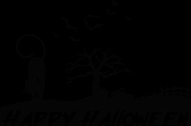TenStickers. Sticker silhouette happy Halloween. Décorez votre salon, chambre ou n'importe quelle pièce avec ce sticker original Halloween. Il représente les silhouettes des célèbres personnages