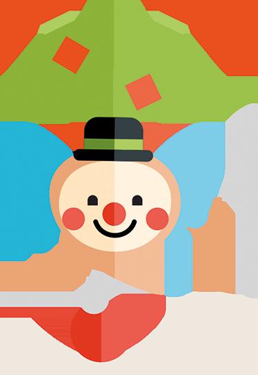TenVinilo. Vinilo decorativo infantil dibujo clown. Vinilo decorativo del amigo de los niños en el circo. Dale color a este divertido adhesivo decorativo.
