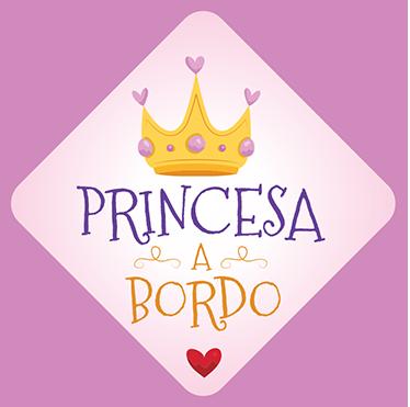 TenStickers. Adesivo para carro princesa. Preencha o seu automóvel com esteadesivo para carrocom a frase ''princesa a bordo'', para mostrar a todo mundo que leva uma pessoa importante.