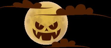 TenVinilo. Vinilo Halloween luna llena. Vinilos decorativos para Halloween con el dibujo de una monstruosa luna, ideal tanto la decoración de un cuarto juvenil como para tu negocio.