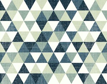 TenStickers. Adesivo caleodoscopico per computer. Sticker per computer portatile con texture di diversi triangoli con tonalità grigio e blu caleodoscopio